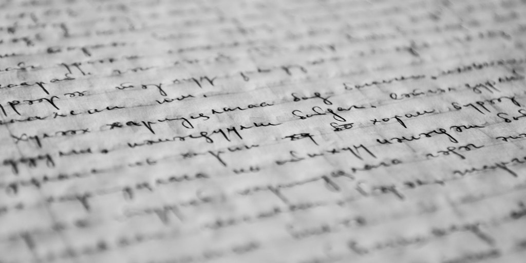 Handwriting on paper