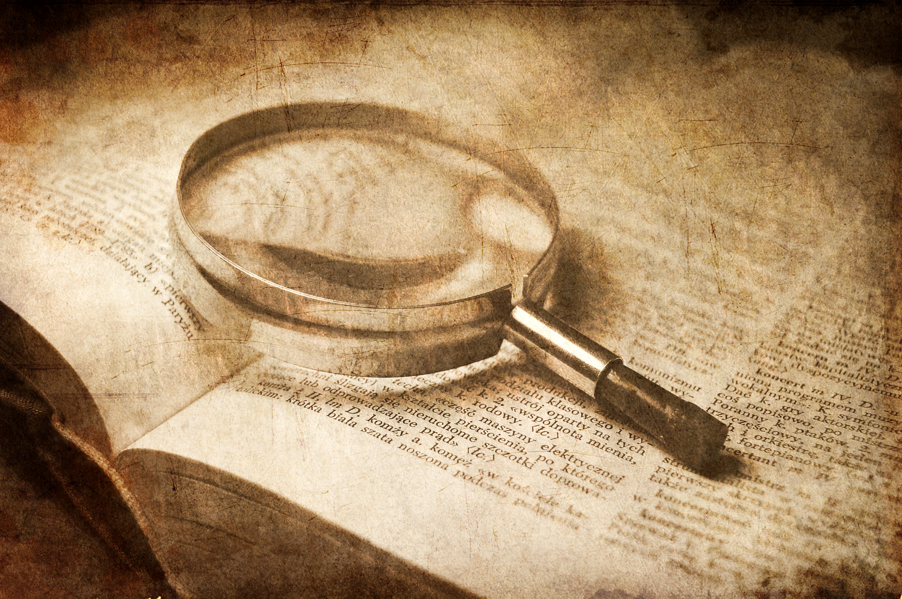 the word of God with magnifying glass