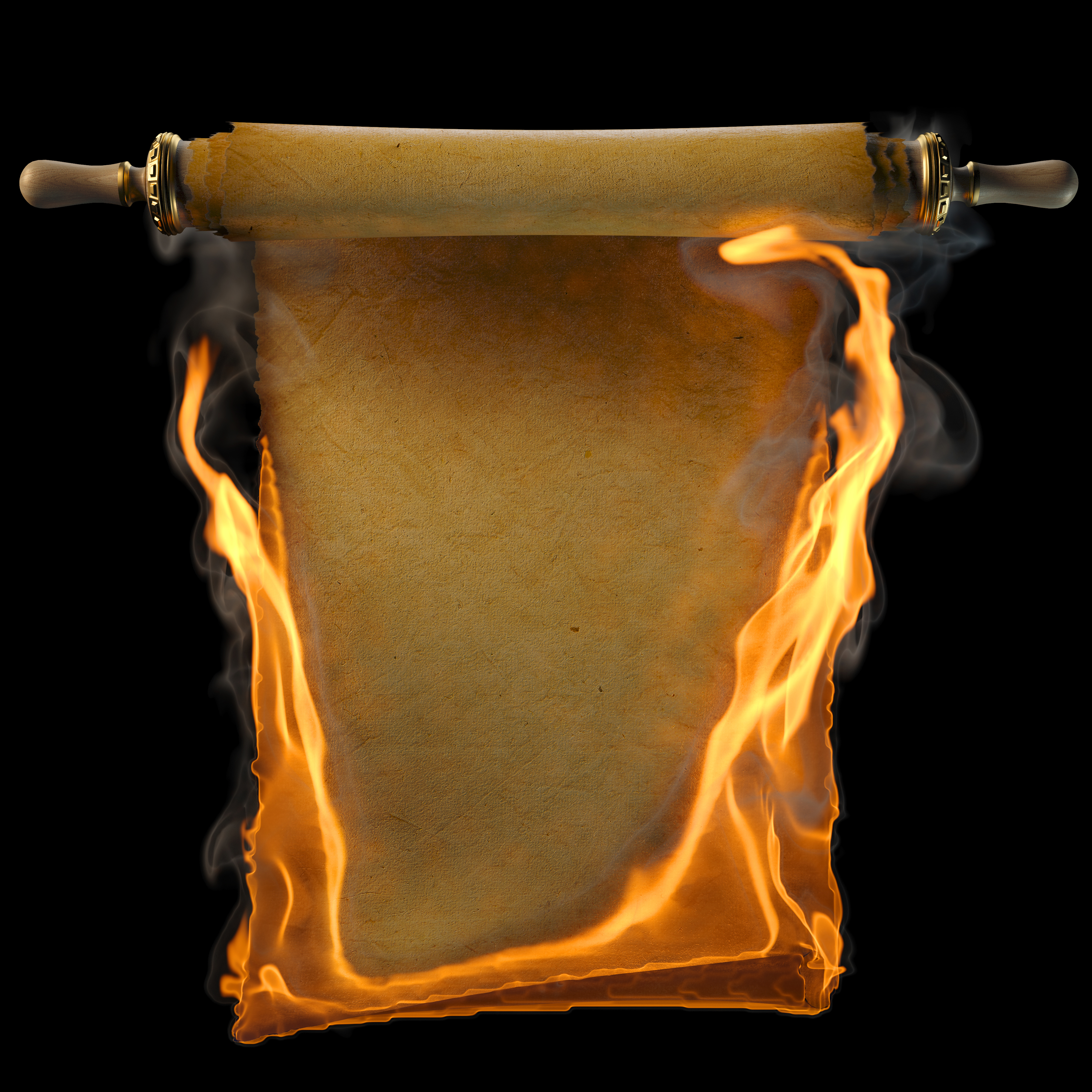 burning scroll