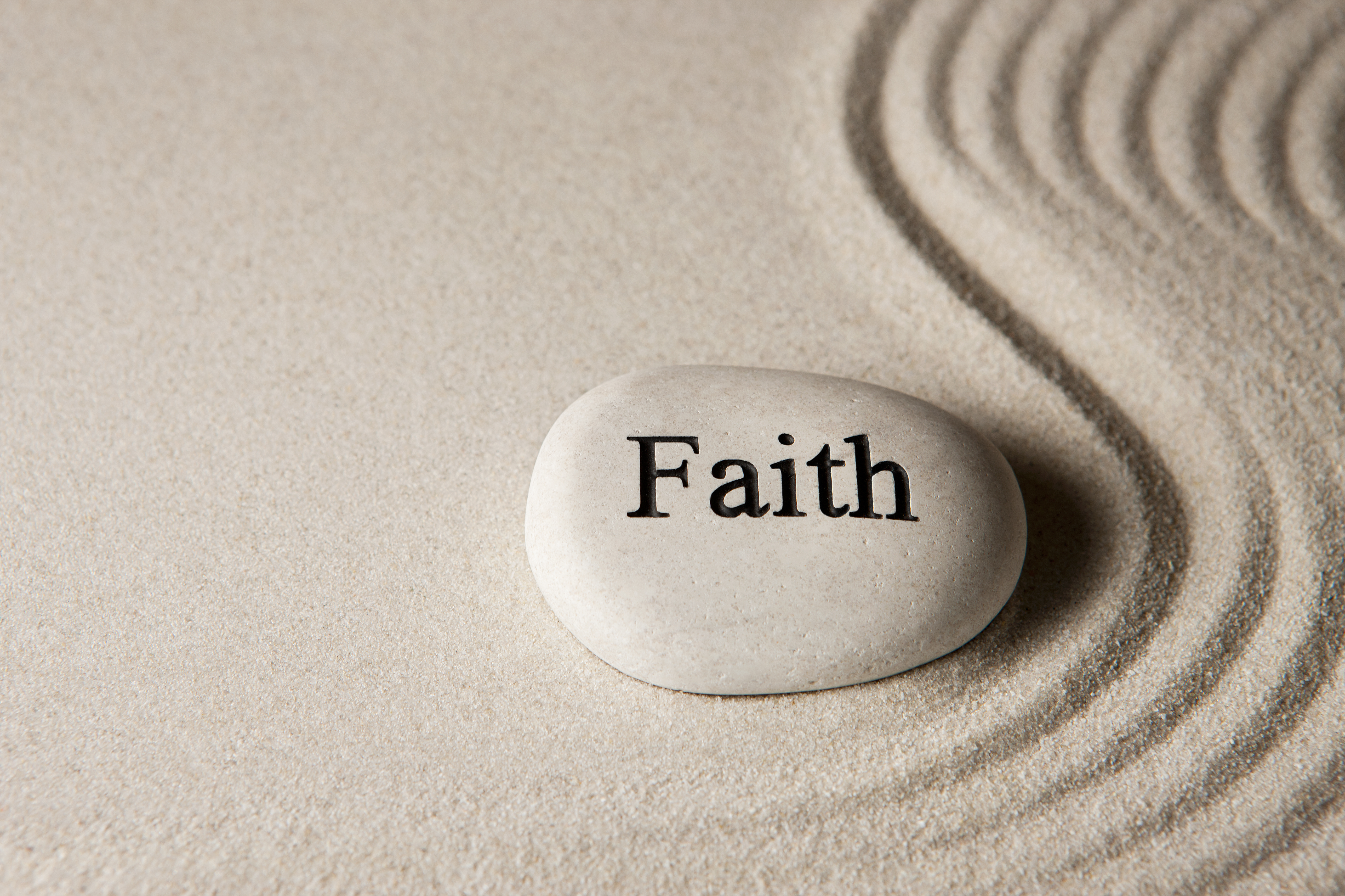 faith on stone