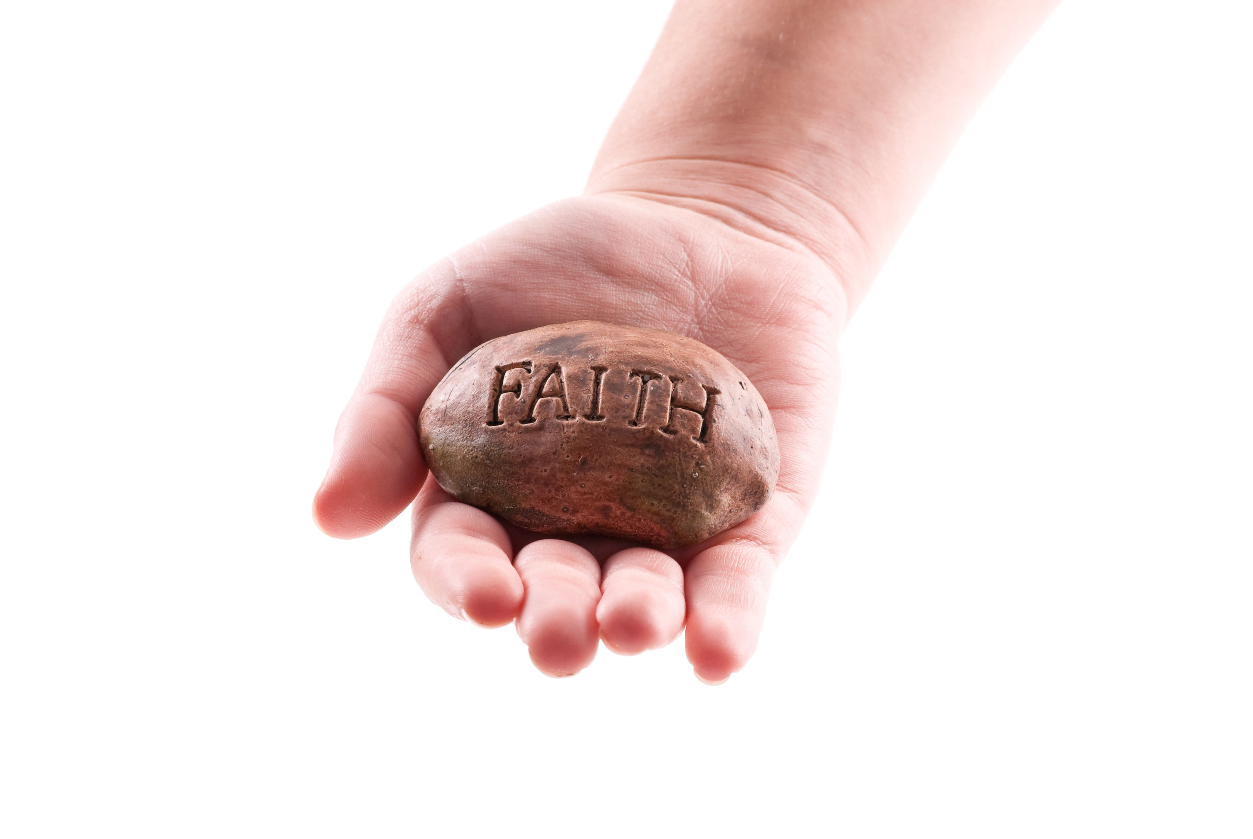 stone written on it faith